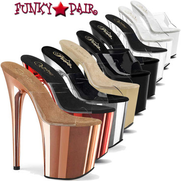 Pleaser | Flamingo-801, 8 Inch Exotic Dancer Shoes