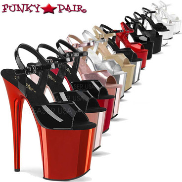 Pleaser | Flamingo-809, Ankle Strap Exotic Dancer Shoes