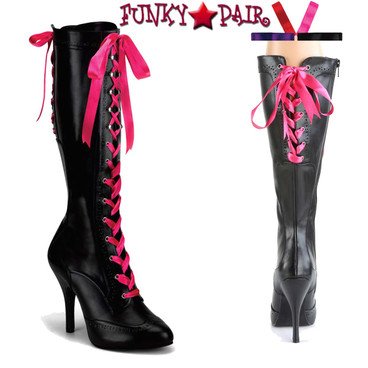 Bordello | Tempt-125 Lace up Knee High Boot