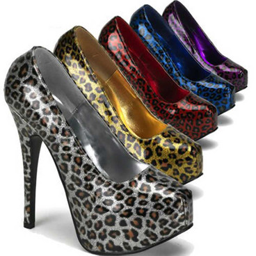 Bordello | Teeze-37, Cheetah Glitter Print Pump