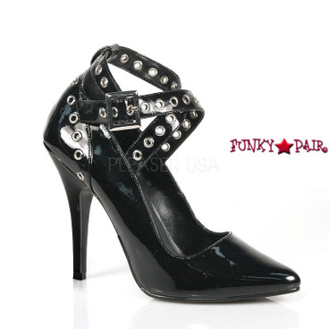 Seduce-443, 5 Inch High Heel Criss cross Ankle Strap