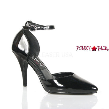 Vanity-402, 4 Inch High Heel Ankle Strap D'orsay Pump Made By PLEASER Shoes
