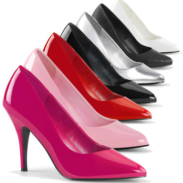 Vanity-420, 4 Inch High Heel Classic Patent Leather Pump Made By PLEASER Shoes