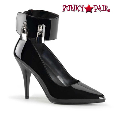 Pleaser | Vanity-434, Pump with Locking Ankle Cuff and Padlocks