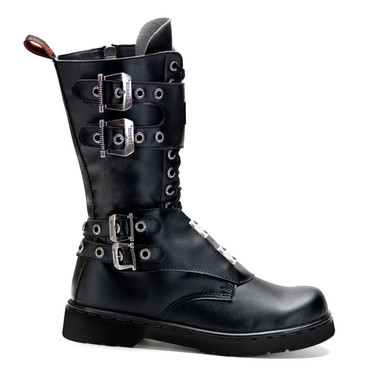 Demonia | Men Defiant-302, Boots with Steel Plate Panel