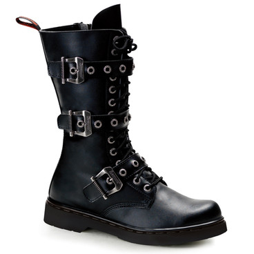 Demonia | Men Defiant-303, 3 Buckles Mid-Calf Boots