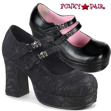Demonia Shoes | Goth Punk Mary Jane | Gothika-09
