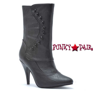 418-Ruth, 4 Inch Heel Mid Calf Boot  Made by ELLIE Shoes