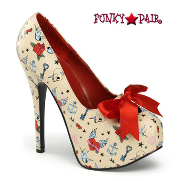 Teeze-12-3, Print Platform Pump | Pin-Up Couture