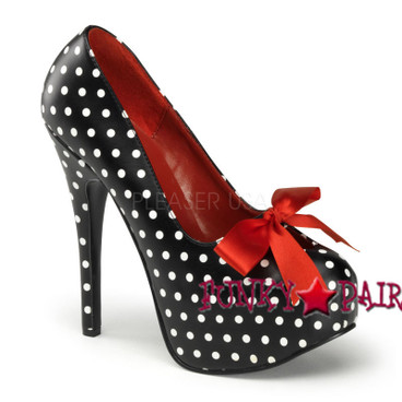 Teeze-12-5, 5.75 Inch High Heel Platform with Satin Bow