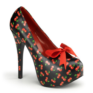 Cherries Print Platform Shoes | Pin-Up Couture Teeze-12-6