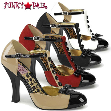 Pin Up Couture | Smitten-10, 4 Inch High Heel T-Strap D'Orsay Pump
