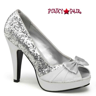 Bettie-10, Open Toe Pump Pin-Up Couture Shoes