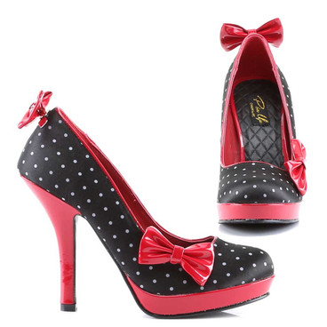 Pin-Up Couture | Secret-12, Pump with Clip on Bows