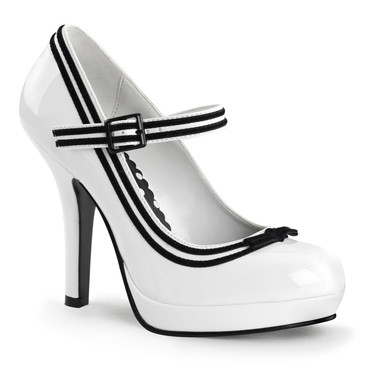 Pin-Up Couture | Secret-15, Platform Mary Jane with Contrast Trim
