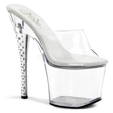 Clearance Sales Stripper Shoes | Diamond-701, Platform Slide Rhinestones Heel