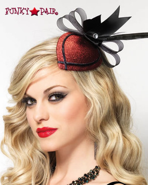 LA-1689, Glitter Hair Clip with Feather