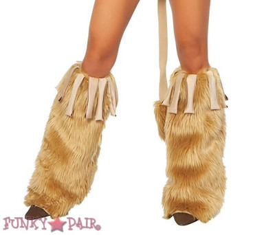 LW4263, Rave Fur Leg Warmer with Fringe