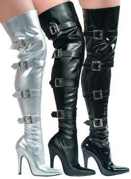 "5"" Thigh high boots w/Buckles Ellie Shoes 511-Buckleup"