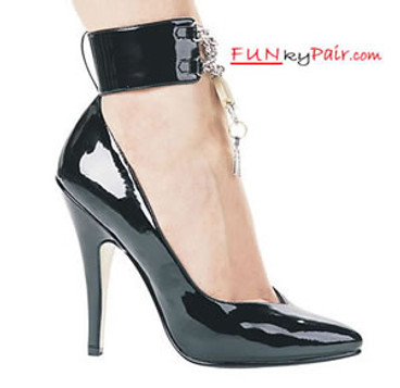 511-Dominique, 5 Inch High Heel Pumps w/Ankle Strap Made by ELLIE Shoes