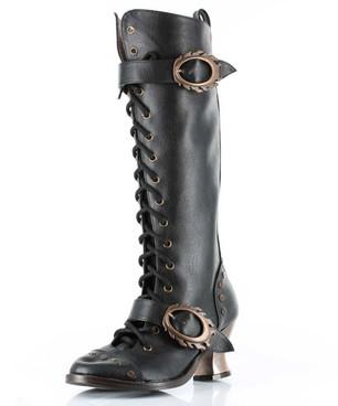 SteamPunk Victorian Knee High Boot | Hades VINTAGE
