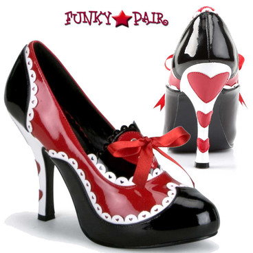 Funtasma | Queen-03, Pump with Hearts on Heel