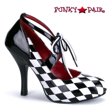 "Funtasma Harlequin-03, 4"" Checker Print Harlequin Shoes"