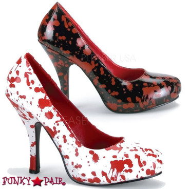 Bloody-12 * 5 Inch Pump with blood splatter print