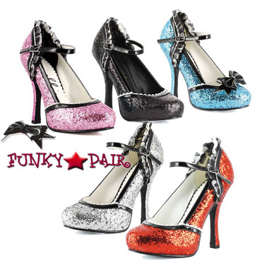 4 Inch Glitter Pump Ellie Shoes   453-Lacey