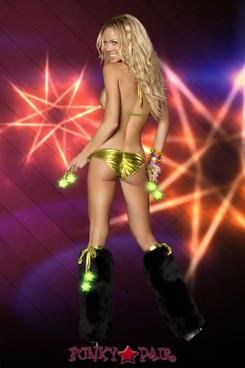 Light-up Star Leg Warmers (LU500) Green