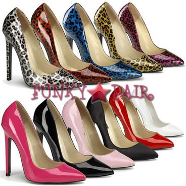 Sexy-20, 5 Inch High Heel Stiletto Heel Pointy Toe Pump