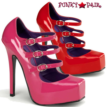 Devious | Bondage-03, Platform Square Toe Mary Jane Shoes
