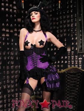 LA-86512, Satin underwire cupless corset