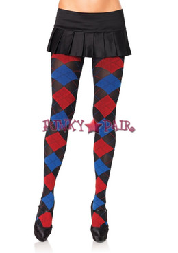 7723, Opaque Woven Argyle tights