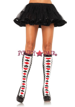 5595, Card Suit Acrylic Knee Highs
