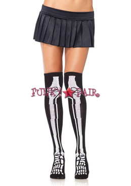5596, Acrylic Skeleton Over the Knee Socks