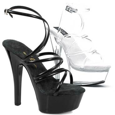 "6"" Strappy Ankle Wrap Sandal by Ellie Shoes 601-Sophia"