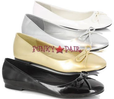 016-MILA, Adult Flat with Bows Made By ELLIE Shoes