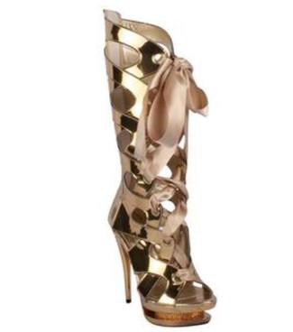 "Ellie Shoes | 603-TEAGAN 6"" Cutout Mid-Calf Ankle Boots"