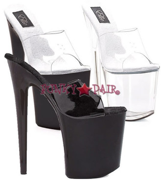 850-VANITY, 8 Inch Stiletto High Heel with 3.75 Inch Platform Slide Made By ELLIE Shoes