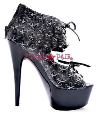 609-BECKY, 6 Inch Stiletto High Heel with 1.75 INch Platform Star Made by ELLIE Shoes