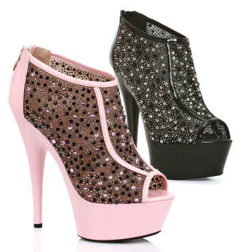 "Ellie Shoes | 609-Kaitlyn 6"" Rhinestones Bootie"