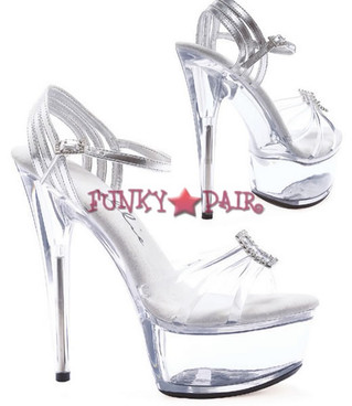 609-NADIA, 6 Inch Stiletto High Heel with 1.75 Inch Platform Shoes Made by ELLIE Shoes