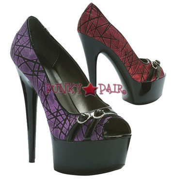 609-WILLOW, 6 Inch Stiletto High Heel with 1.75 Inch Platform Peep Toe Pump Made by ELLIE Shoes