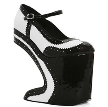 Bettie Page | BP579-AUBREY,  Platform Spectators Shoes
