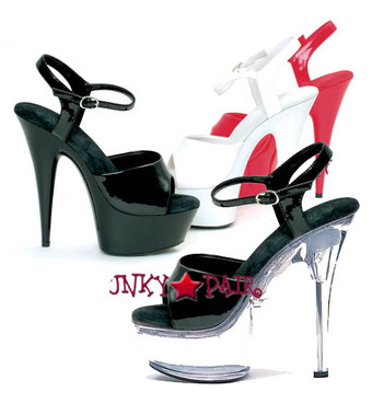 609-Juliet, 6 Inch High Heel with 1.75 Inch Platform Dancer Heel Made by ELLIE Shoes
