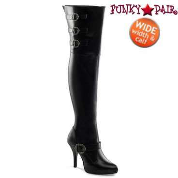 Wide Width/Calf Thigh High Boots | Pleaser Diva-3006X