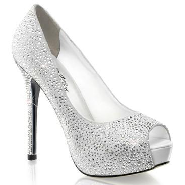 5 Inch peep toe rhinestones pump Pleaser Shoes | Prestige-16,
