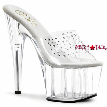 Stripper Shoes Adore-701RS,  7 Inch Stiletto Heel Rhinestones on Vamp Mule