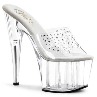 Pleaser Shoes | Adore-701RS, Rhinestones on Vamp Mule